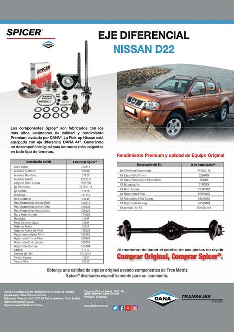 Spicer - Catálogo Nissan